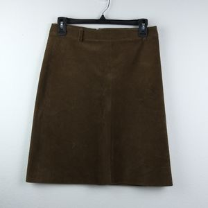 THEORY Corduroy Brown Cotton Blend Pencil Skirt